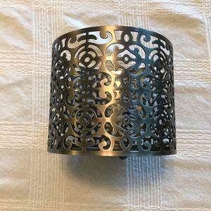 Bath & Body Works Brushed Nickel Candle Holder